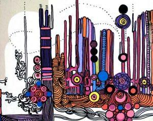 West Side II - dessin sur toile - 24x30cm - 2011