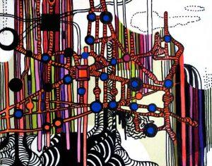 West Side III - dessin sur toile - 24x30cm - 2011