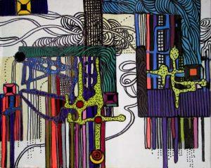 West Side IV - dessin sur toile - 24x30cm - 2011
