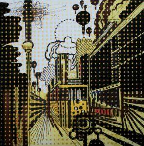 Tramway Of Desire - dessin sur toile - 23x23cm - 2011