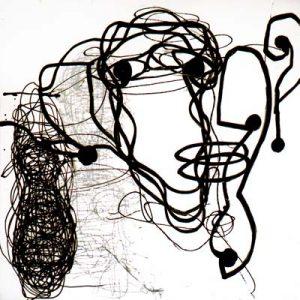 Sans titre, Noir et blanc I - Acrylique sur papier - 50x50cm - 2003