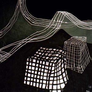 Sans titre, Noir et blanc IV - Acrylique sur papier - 50x50cm - 2003