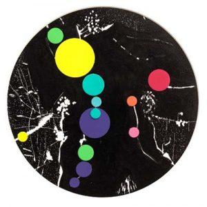 'Planet II' - dessin et papiers collés - ∅ 22cm - 2006