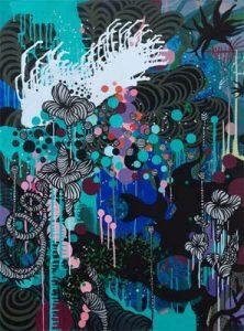'Promenade pour les avatars' - 97 x 130 cm - Acrylique sur toile - 2009