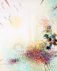'Etoiles et crépuscules' - 160 x 130 cm - Acrylique sur toile - 2009
