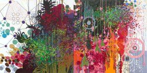 'Acid Panda Still' - 100 x 200 cm - Acrylique sur toile - 2009