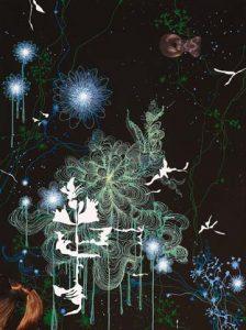 'Rose Bleue' - Acrylique sur toile - 130x80cm - 2006