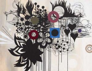 'Black Heart' - 88 x 115 cm - Acrylique sur toile - 2009