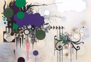 'Pluie d'hiver' - 90 x 130 cm - Acrylique sur toile - 2010