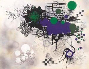 'Jeardino galente' - 120 x 150 cm - Acrylique sur toile - 2009