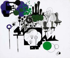 'Réconciliation' - 54 x 60 cm - Acrylique sur toile - 2009