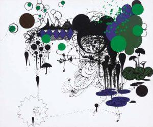 'Don't forget your umbrella' - 54 x 60 cm - Acrylique sur toile - 2009