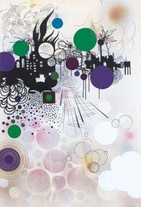 'Neverland' - 130 x 85 cm - Acrylique sur toile - 2010