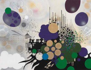 'Jardin suspendu' - 88 x 115 cm - Acrylique sur toile - 2010