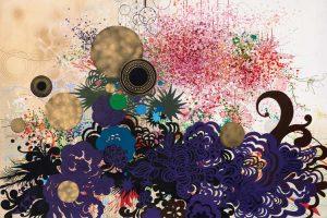 'Dancing Flowers' - 130 x 180 cm - Acrylique sur toile - 2010