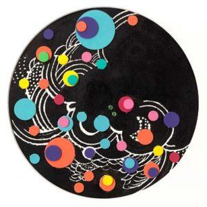 'Planet I' - dessin et papiers collés - ∅ 22cm - 2006