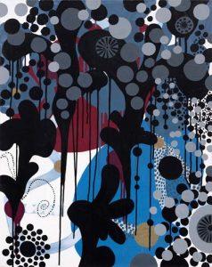 'Cerisier d'hiver' - 73 x 92 cm - Acrylique sur toile - 2009