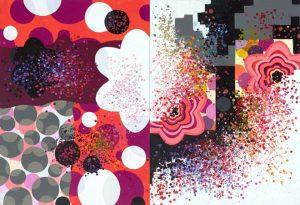 'Forgetting The Limits' - 99 x146 cm - Acrylique sur toile - 2009