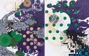 'The road to …' - 87 x 150 cm - Acrylique sur toile - 2010